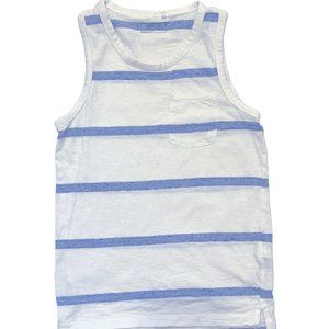 Next Co. Blue Striped Pocket Tank Top